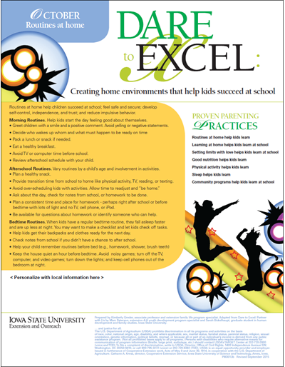Dare to Excel newsletter - October